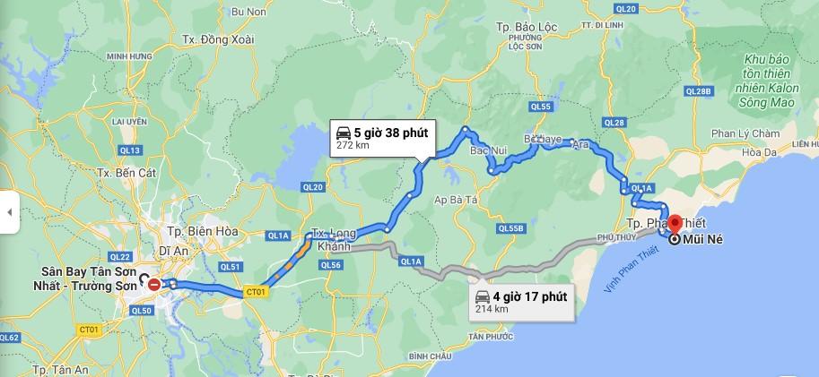 Hướng dẫn đi từ sân bay Tân Sơn Nhất đến Mũi Né