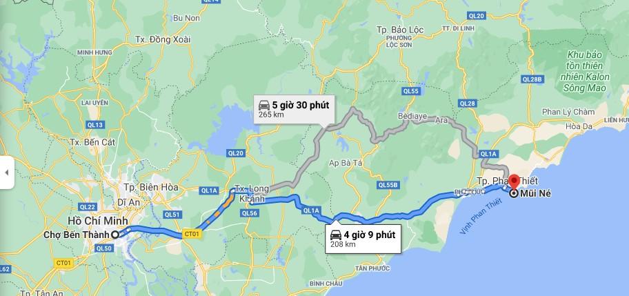 Hướng dẫn đi từ trung tâm Sài Gòn đến Mũi Né