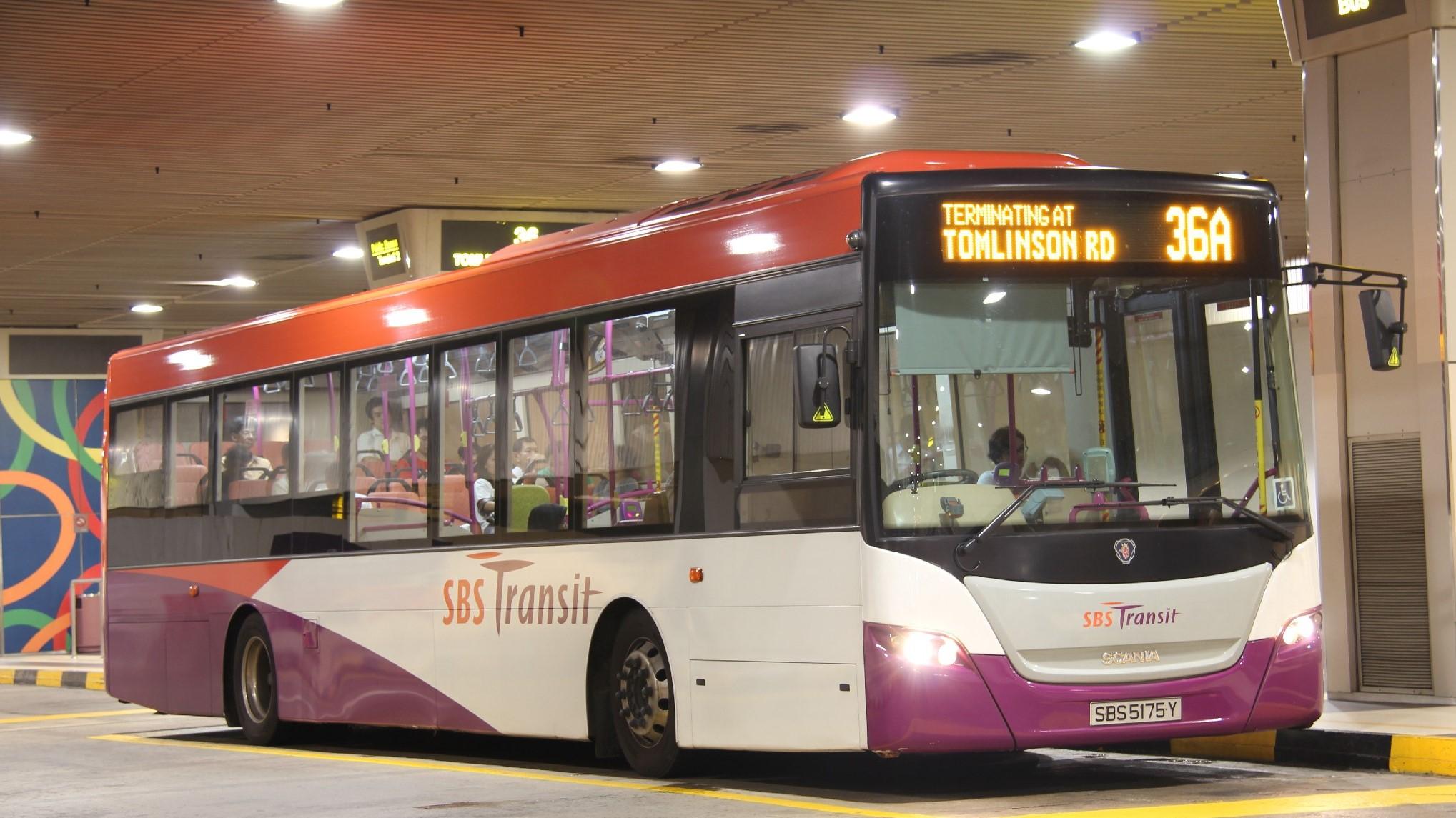 Bus 36 tại Sân bay Changi