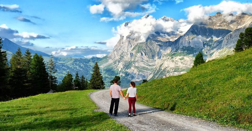 Check-in ở núi Kleine Scheidegg, Thụy Sĩ