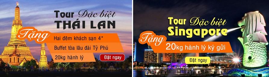 Lịch trình hấp dẫn cho cả tour Thái Và Singapore.