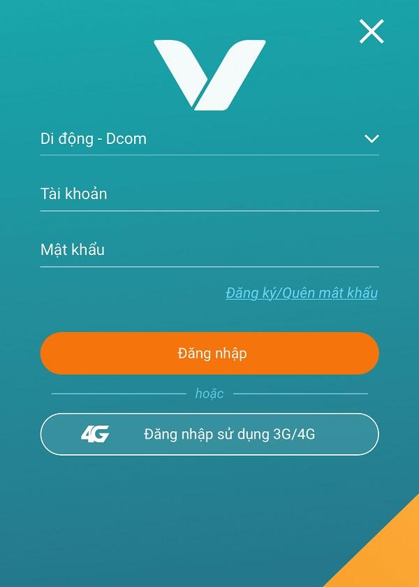 Giao diện app My Viettel trên điện thoại