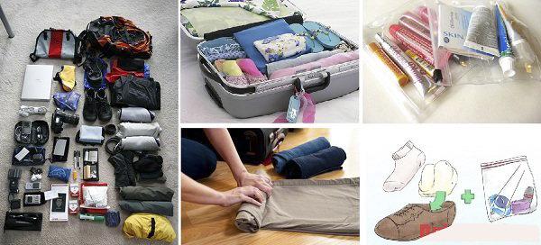 Cách sắp xếp đồ đạc vào vali thật hợp lý