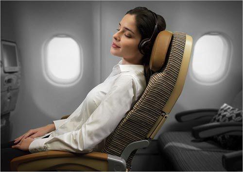 Thư giãn khi đi máy bay