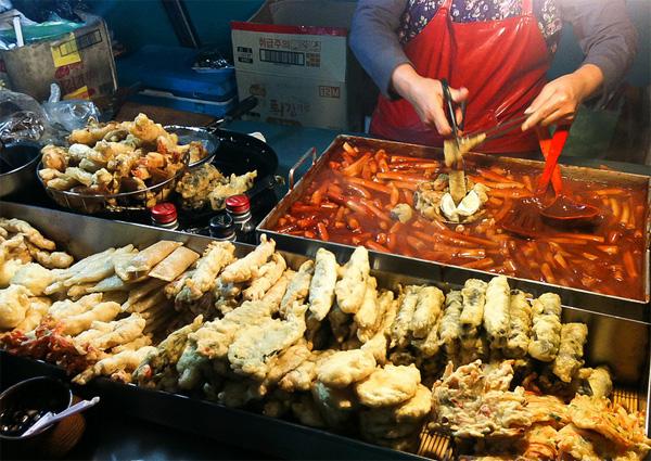 Các món ăn đường phố tại Hàn Quốc