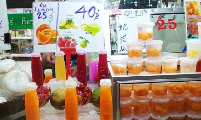 Các loại đồ uống, nước ép trái cây