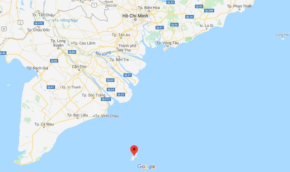 Vị trí Côn Đảo trên bản đồ