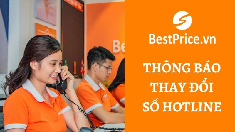 BestPrice thông báo thay đổi số hotline
