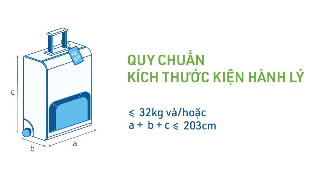Kích thước hành lý ký gửi của Bamboo Airways