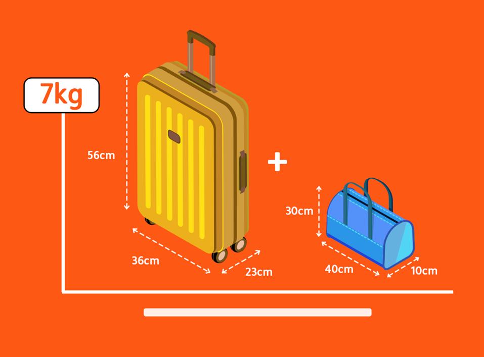 Kích thước hành lý xách tay của Jetstar Pacific