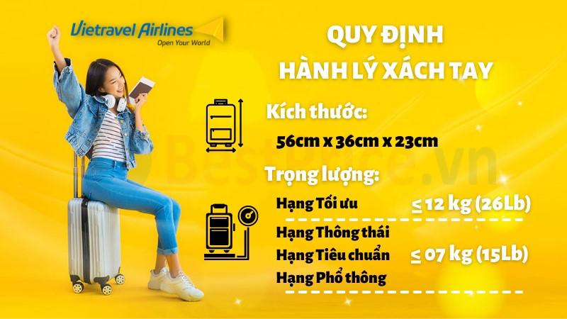 Quy định hành lý xách tay của Vietravel Airlines