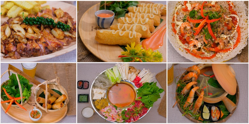 Món ngon tại quán Phố cổ Bia Hà Nội