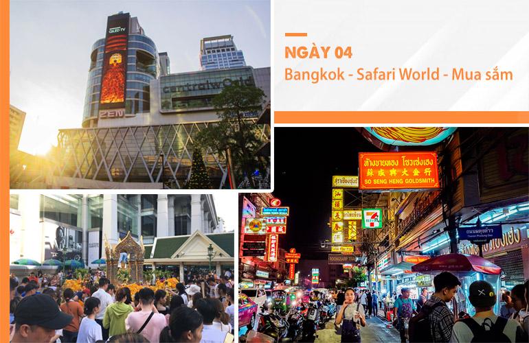 Hoạt động mua sắm được yêu thích ở những chuyến đi Thái Lan