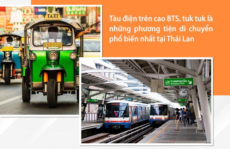 Các phương tiện di chuyển phổ biến tại Thái Lan