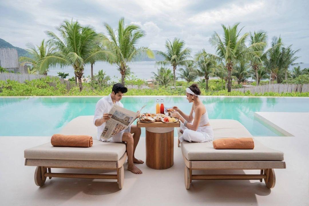 hồ bơi tại Six Senses Côn Đảo