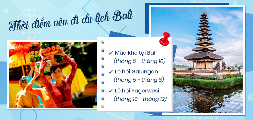 Thời gian nên đi du lịch Bali