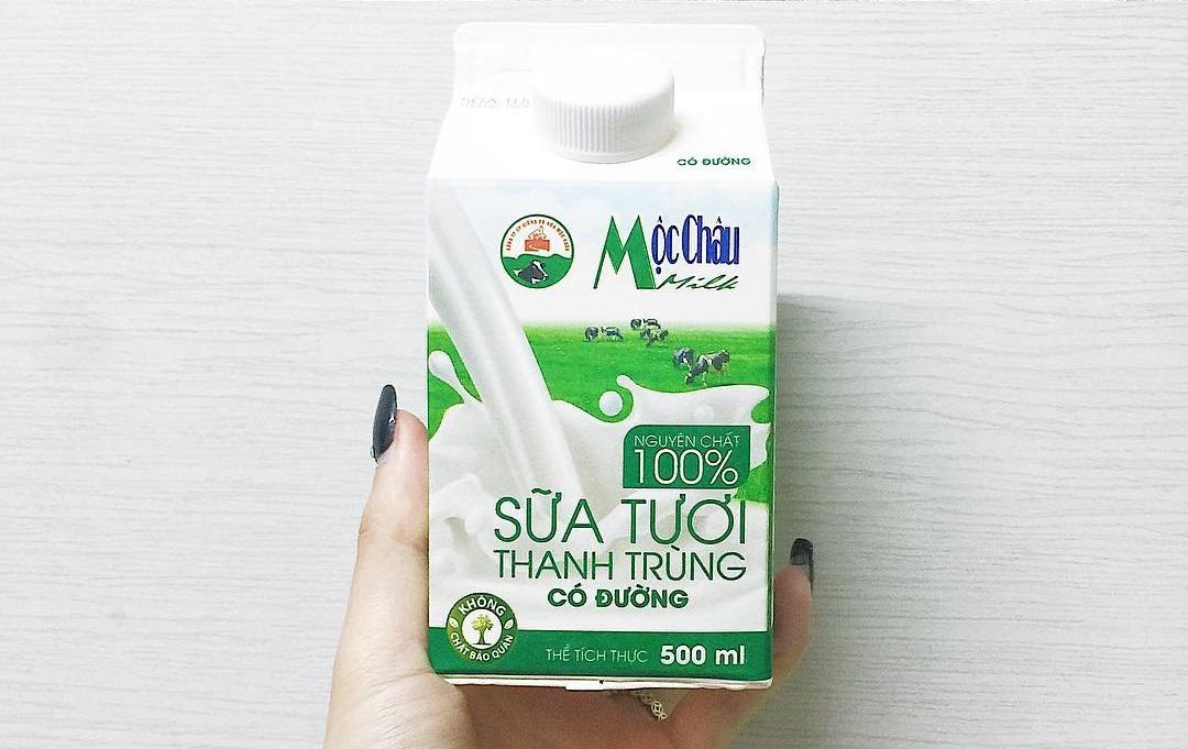 Sữa tươi Mộc Châu là món quà được ưa thích