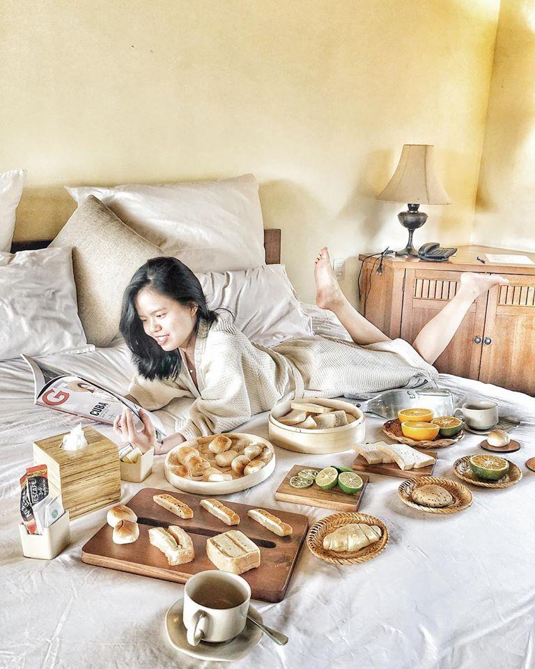 """Bữa sáng """"ship tận giường"""" tại khách sạn Emeralda Ninh Bình"""