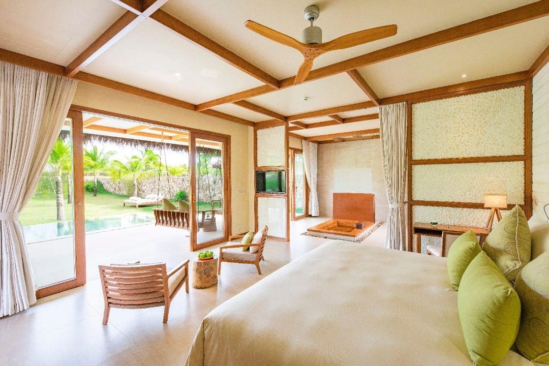 Phòng nghỉ đơn giản nhưng vô cùng sang trọng tại Fusion Resort Phú Quốc (@fusionresortphuquoc)