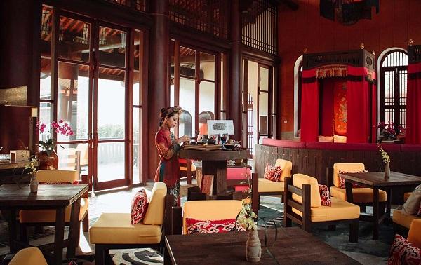 Không gian thư giãn độc đáo tại nhà hàng Thiền Quang, Legacy Yên Tử resort