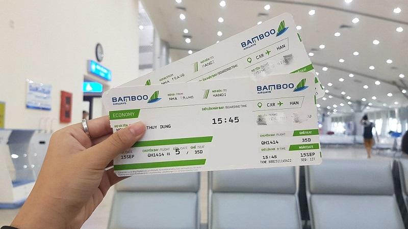 Vé máy bay Bamboo Airways của mình