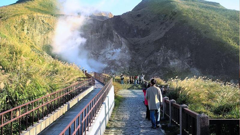 Công viên Yangmingshan có khí hậu mát mẻ quanh năm