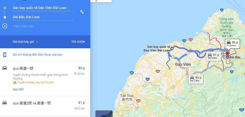 Thời gian đi từ sân bay Đào Viên đến trung tâm