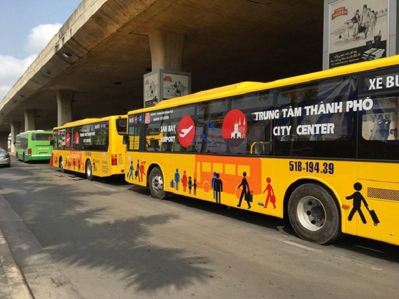 Xe bus từ sân bay Tân Sơn Nhất về Sài Gòn