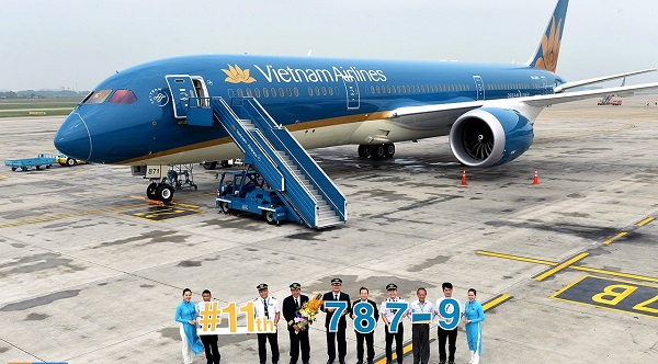 Máy bay Boeing 787 của hãng Vietnam Airlines