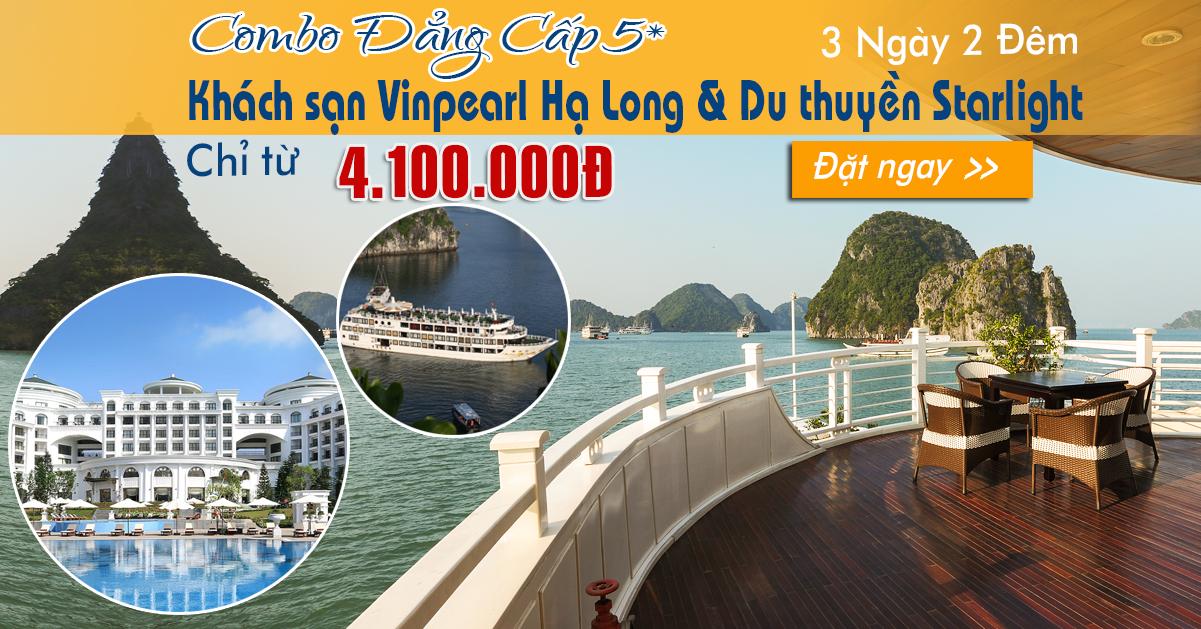 Combo Khách sạn Vinpearl Hạ Long & Du thuyền.