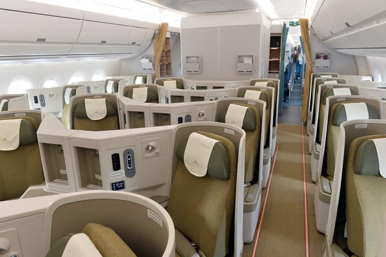 Khoang ghế hạng thương gia của Vietnam Airlines