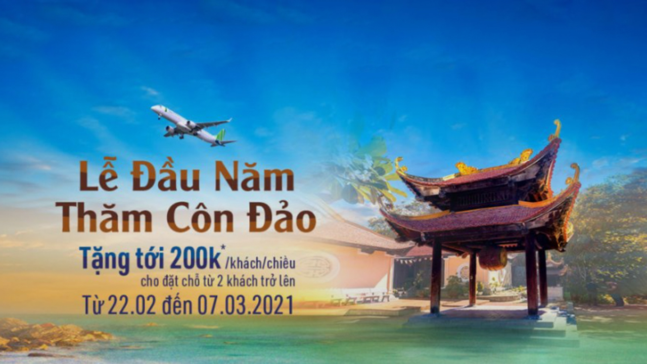 [TẶNG TỚI 200K] Lễ đầu năm, thăm Côn Đảo cùng Bamboo Airways