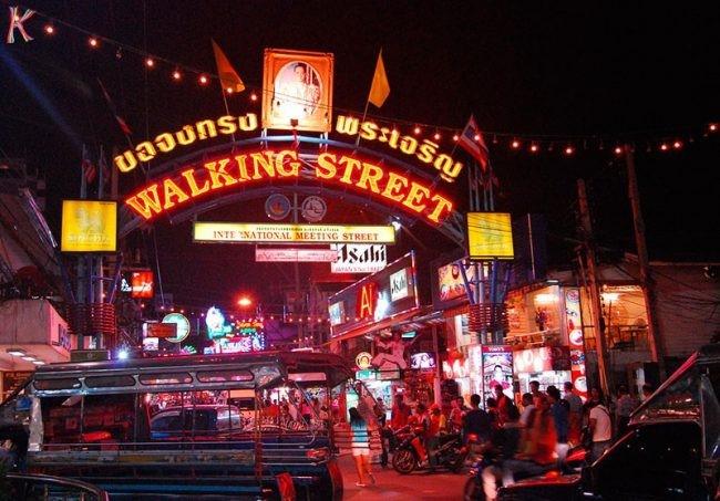 Phố đi bộ náo nhiệt tại Pattaya