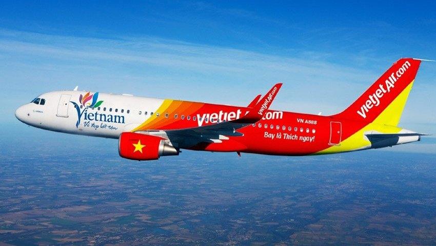 Máy bay hãng hàng không Vietjet Air