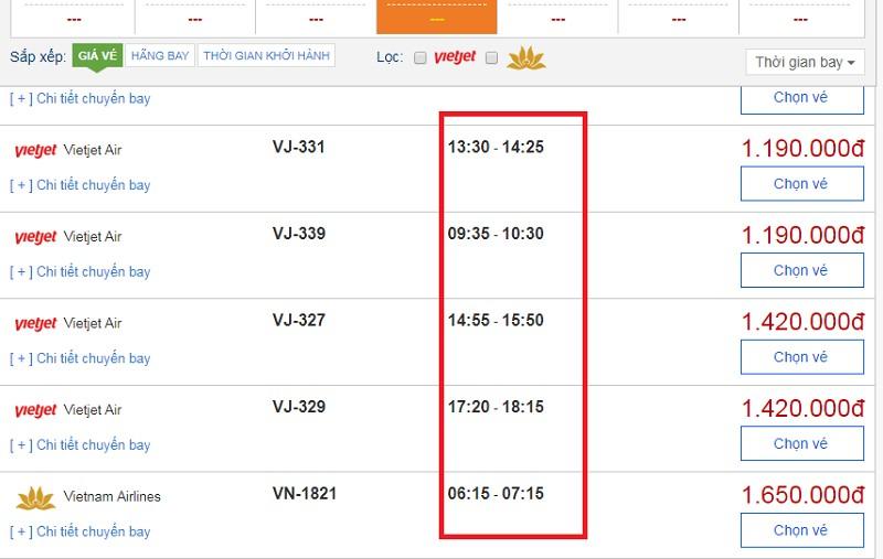 Đặt vé máy bay từ Hồ Chí Minh đi Phú Quốc tại website bestprice.vn