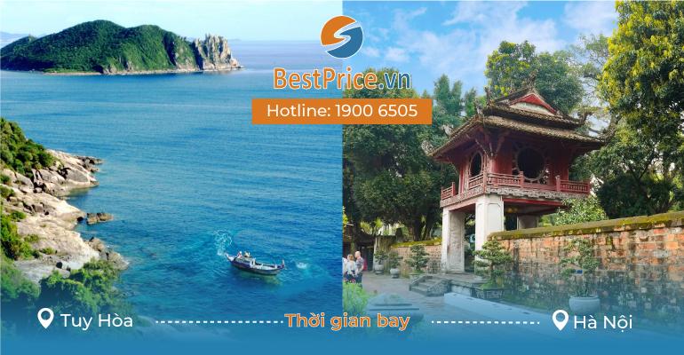 Thời gian bay từ Tuy Hòa đi Hà Nội mất bao lâu