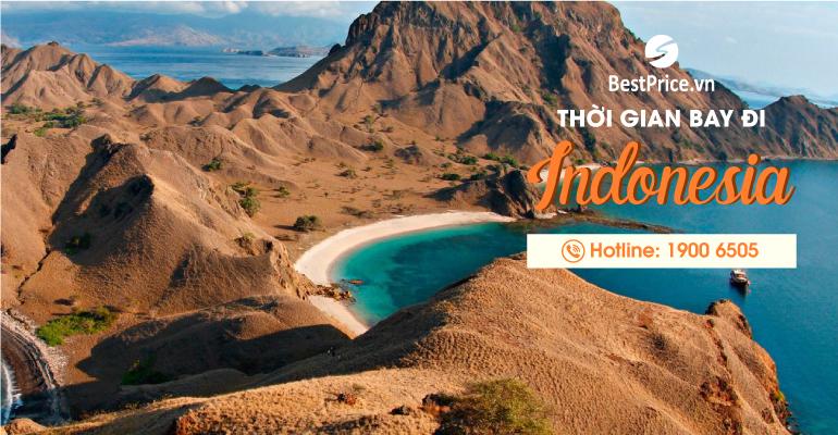 Thời gian bay từ Việt Nam sang Indonesia