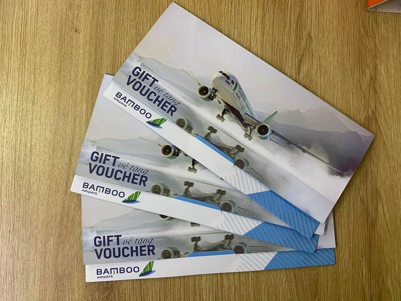 03 voucher vé máy bay 0đ của Bamboo Airways