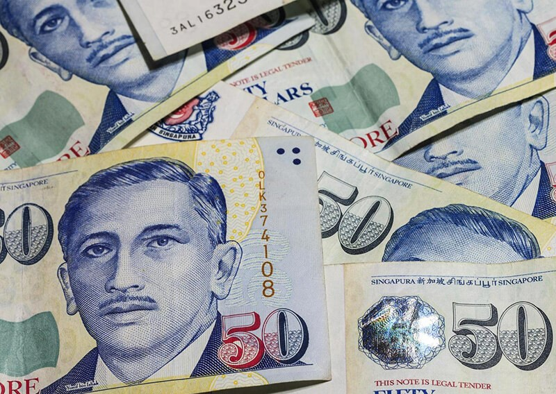 Tiền giấy Singapore có nhiều mệnh giá khác nhau
