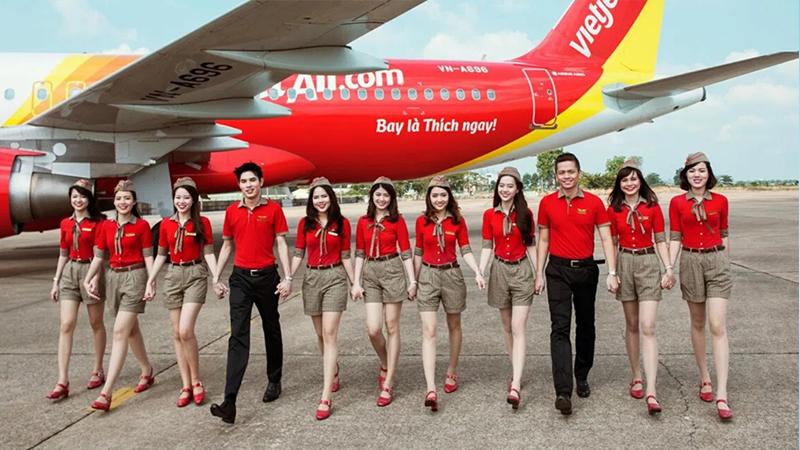 Trang phục của các tiếp viên Vietjet Air