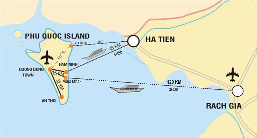 Cách di chuyển bằng đường thủy ra đảo Phú Quốc