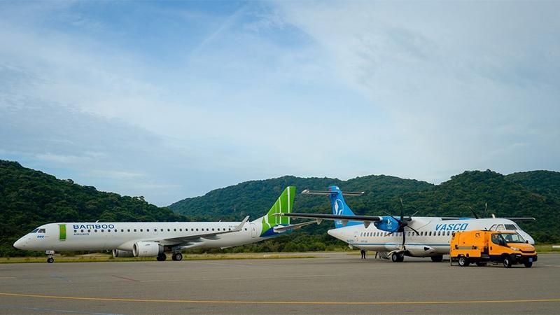 Vietnam Airlines và Bamboo Airways khai thác các chuyến bay ra Côn Đảo