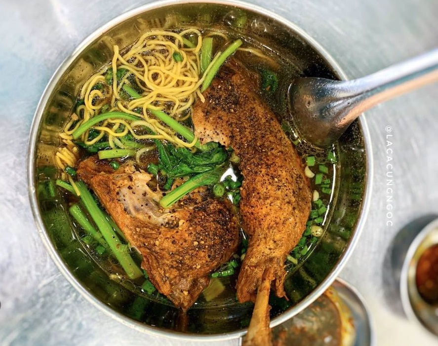 Mì vịt Hậu Phát là món ăn sáng ngon ở Cần Thơ được nhiều người yêu thích