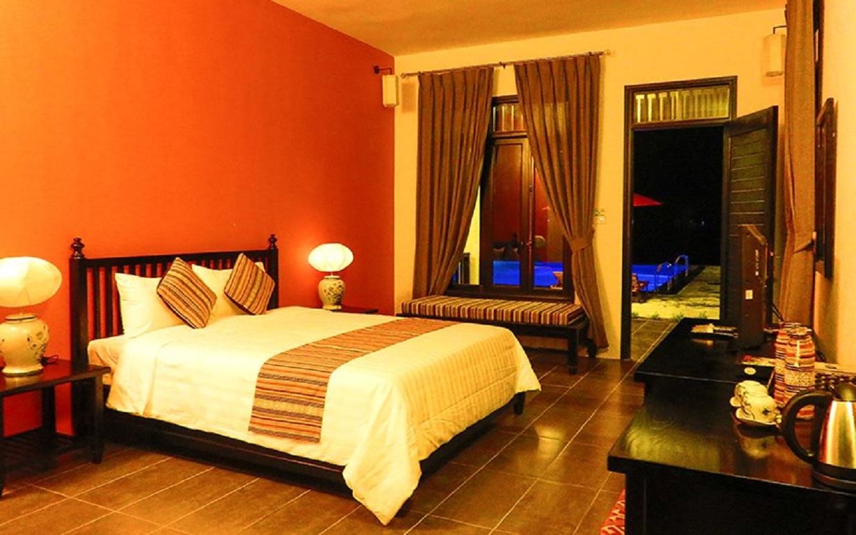 Phòng nghỉ tiện nghi và ấm cúng tại Sol Bungalows Mai Châu