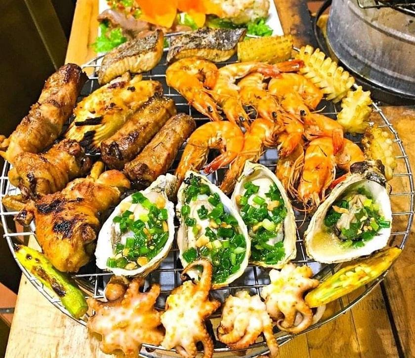 Đồ nướng - Món ăn phổ biến trong nhiều quán ăn đêm Nha Trang