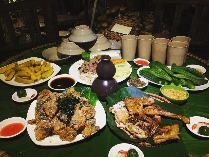ẩm thực đồng quê tại Ao quán