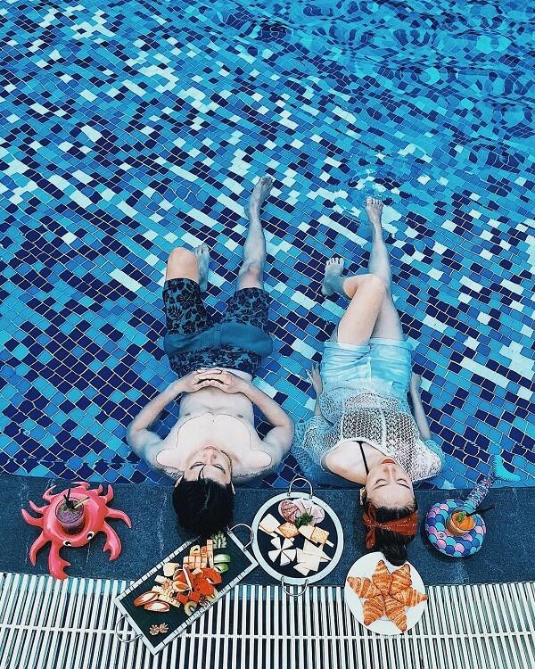 Bể bơi tại VinOasis Phú Quốc
