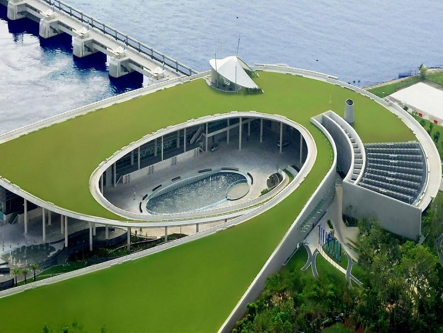 Đập nước với thiết kế công viên mở