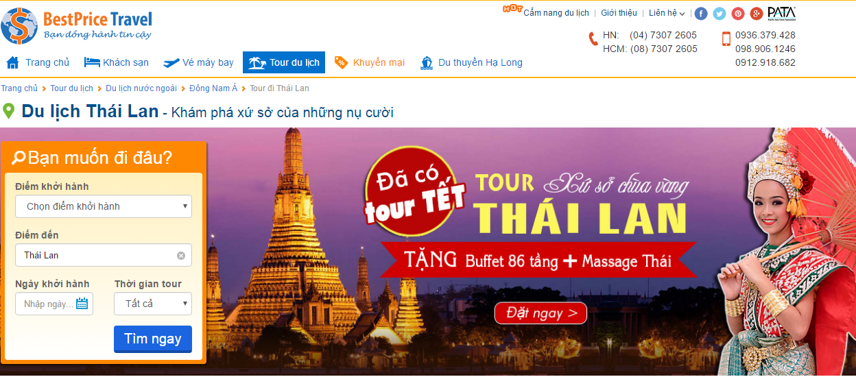 Tour Tết Thái tại BestPrice