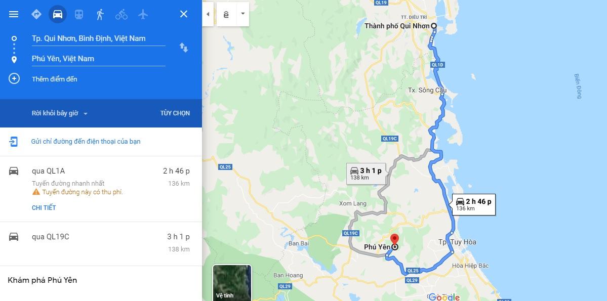 Hướng dẫn di chuyển từ Quy Nhơn đến Phú Yên